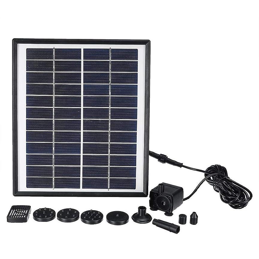 虚栄心垂直繊維ソーラーポンプ ソーラーパネルのフローティング噴水風景太陽光発電噴水ウォーターポンプガーデン 庭 ガーデン 養魚池 庭園 プール (Color : Black, Size : One size)