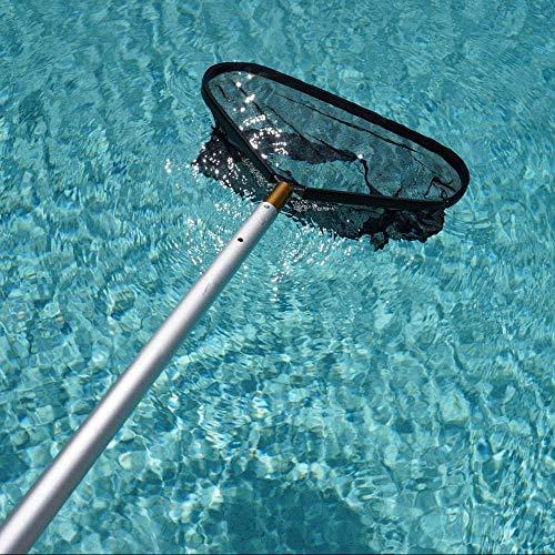 Stargoods Pool Skimmer Net, Heavy Duty Leaf Rake Catcher, Deep Mesh Skim Bag, Cleaning Tool Golden Deluxe Edition