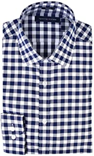 Tommy Hilfiger Men's Dress Shirts Non Iron Slim Fit Solid...