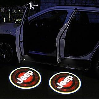 2Pcs for Jeep Car Door Lights Logo Projector, Universal Wireless Car Door Led Projector Lights, Upgraded Car Door Welcome Logo Projector Lights for Jeep All Car Models