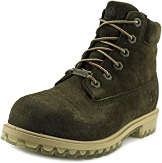 Timberland 6 Inch Big Kid's TPU Outsole Waterproof Suede Premium Boots Dark Green tb0a1bl4