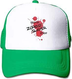 Trucker Hat Adjustable Snapback Strap Mesh Baseball Cap Dad by Day Zombie Slayer by Night