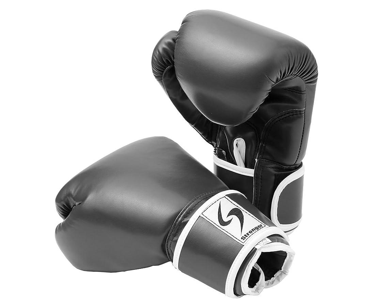 洞察力代わりの手伝うPURE RISE(ピュアライズ) ボクシング グローブ 10オンス 左右セット ブラック