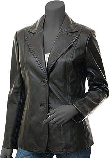 جاكيت جلد للنساء من fjackets - سترة صوفية من جلد الخراف الحقيقي للنساء