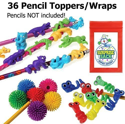 Super Secret Surprise Sack 36 Fun Pencil Topper Fidgets with 1