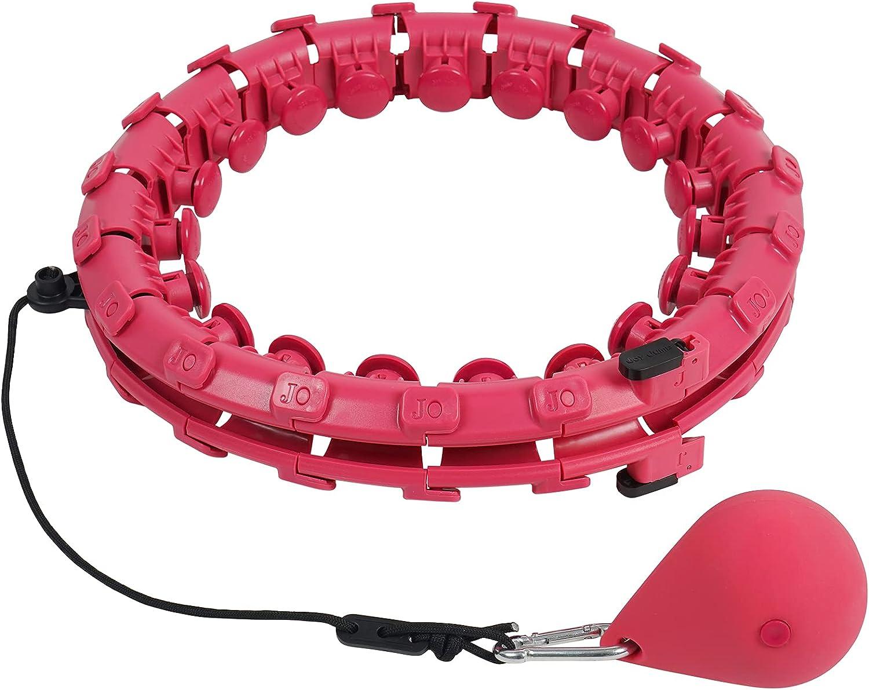 Boldeed 24 Sections Detachable Fresno Mall Over item handling ☆ Smart Infinity Hoop Exercise Hula