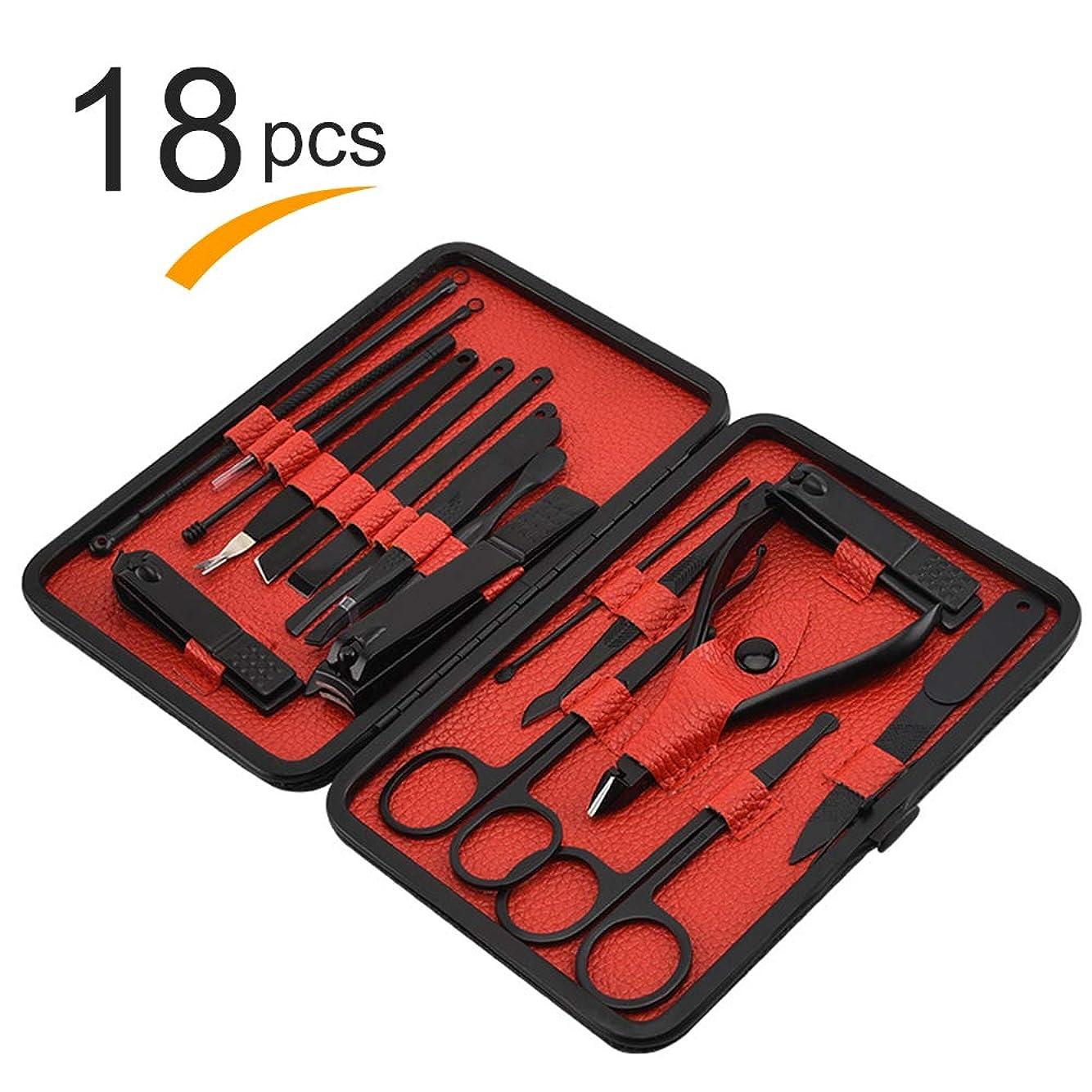 トリクルチャネルシリンダー爪切り、マニキュアペディキュアセットツール、ステンレス鋼マニキュアペディキュアセット