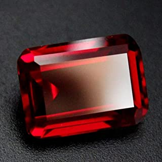 Ruby Rectangle Faceted Gemstone Emerald Cut Ruby Gem Multiple Sizes to Choose C36R