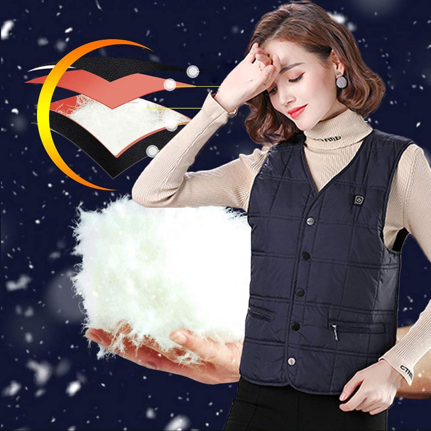 塩辛いネブ控えめな男性と女性、温水ジャケット、アップグレードされた軽量の電気温水ジャケット、暖房用ベストダウンジャケットコート用温水ベスト,ブルー,XL