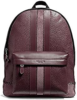 coach charles backpack with baseball stitch