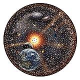 JAWSEU Sistema Solar Neon Puzzle,Outer Space 1000 pcs Puzzle,Rompecabezas,Puzzle Rompecabezas,Espacio,Niños y Adultos,Niño/niña,Sistema Solar para el Piso Rompecabezas