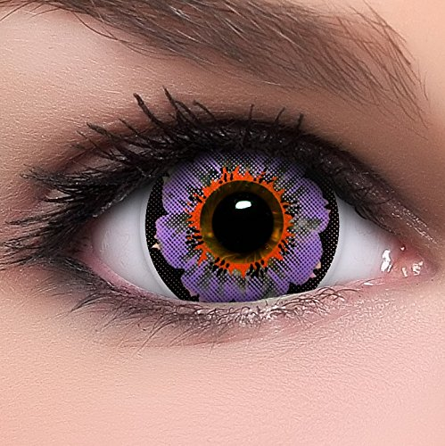 Circle Lenses lilane Lily Violet ohne Stärke + Behälter I 15mm I weich I 3 Monate anwendbar