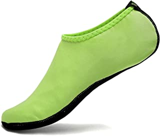 [アップデート版] FANTURE スキンシューズ ウォーターシューズ プール 砂浜 サーフィンヨガ 有酸素運動 超軽量,SKIN01-Neon Green-M