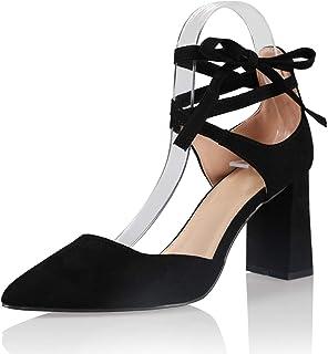 AIIT Women`s Fashion Chunky High Heel Sandal Pump Shoe