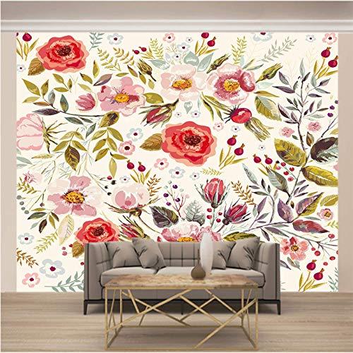 Msrahves fotomurales decorativos pared Pintado plantas flores grande Mural TV Fondo Papel de pared Sala de estar Sofá Dormitorio Papel tapiz Papel pintado creativo moderno tejido no tejido