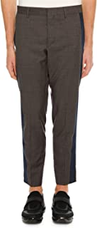 Men's Side-Stripe Ankle Pants Dark Grey