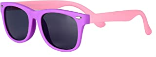 Kids Polarized Boys Girls Sunglasses-GOUDI Rubber Fashion For Children Sports Sunglasses Rubber Frame Age 2-10