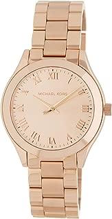 Michael Kors Slim Runway Rose Gold-Tone Three-Hand Women's Watch