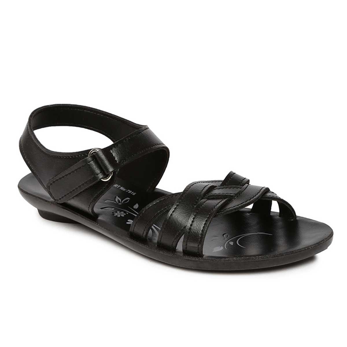 SOLEA Women's Black Sandals- Buy Online
