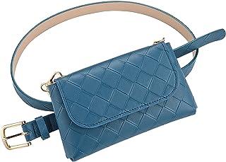 Fanny Pack Steampunk Hip Bag Traveling Fashion Waist Packs for Women with Adjustable Belt ( blue )