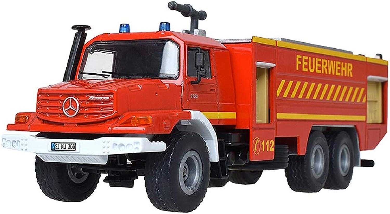 SHLIN-Auto Model Engineering Auto Druckguss Auto Modell Legierung Auto Kinder Spielzeug LKW Mercedes Feuerwehrauto Modell Geschenk Für Kinder (Farbe   Orange) B07PHL2F7N Meistverkaufte weltweit  | Speichern