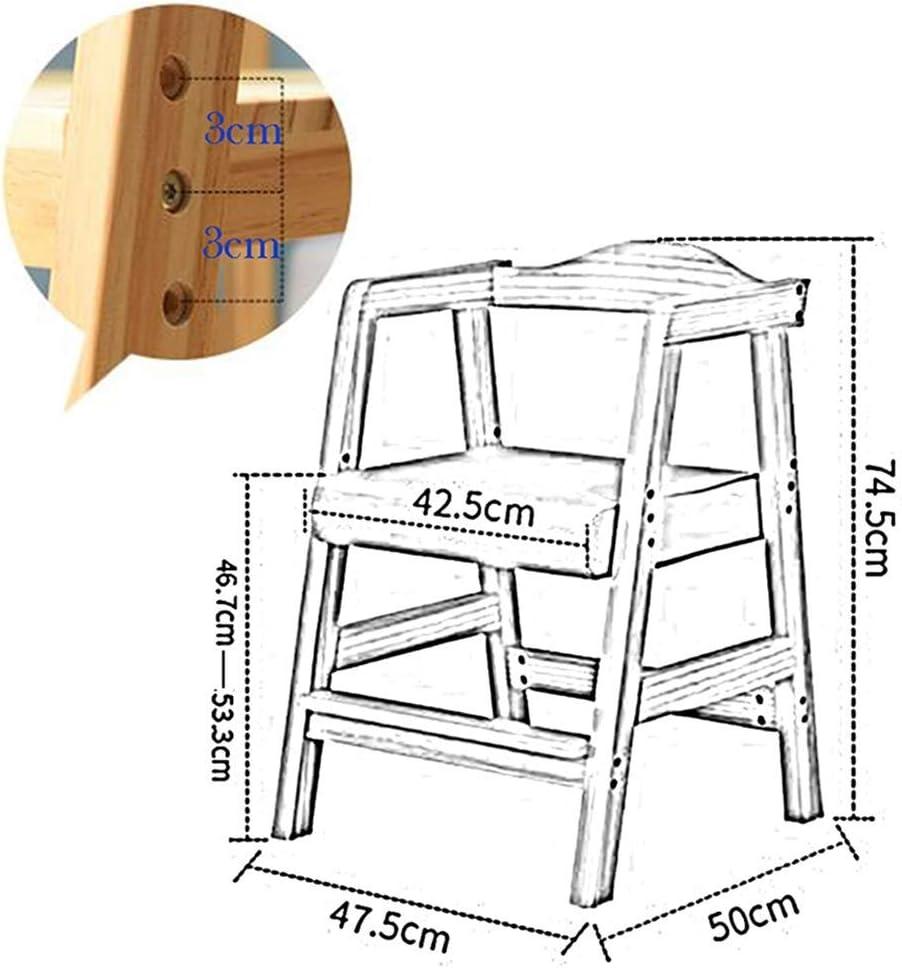 LWW Chaise solide bois dur préscolaire Garderie sécurité maternelle Chambre, Tabourets Petites Filles Garçons,rouge Bleu