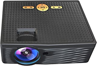 Mini Projector 1080P Supported 5000 Lux 150 Inch Display Portable Video Movie Projector Built-in Speaker with AV/HD/USB/VG...