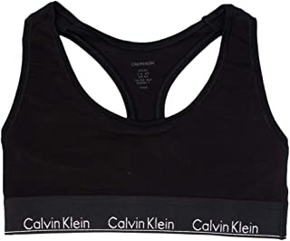 Calvin Klein Unlined Bralette 9UF Triangle Bra for Women - Black/Silver Logo M11000RR_Anchor Blue_Large M