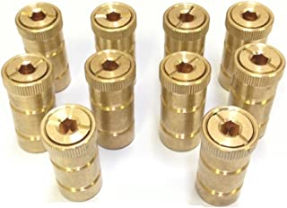10 Pack Swimming Pool Brass Deck Anchor For Pool Cover Screw In Type For Concrete Decks