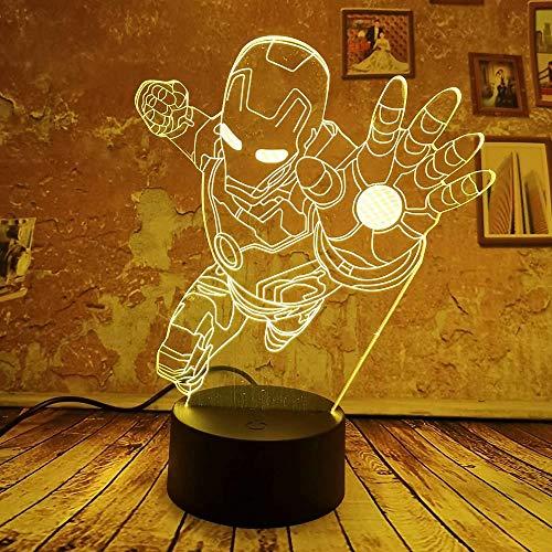 Illusion lumière, Cool lampe 3D Homme Cool Night Light 7 Gradient de couleur automatique Illusion Garçons Kid Light Toy Lampe de chambre à coucher Comme décor cadeaux Cadeaux Visual Light Sommeil