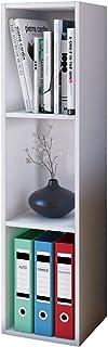 "VCM Shelf Storage Unit Office Filing Shelving Furniture Bookcase Bookshelf Cabinet Cube CD DVD ""Mendas"" White"