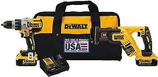 DEWALT 20V MAX XR Cordless Drill Combo Kit, Brushless, 5.0-Ah, 2-Tool (DCK294P2)