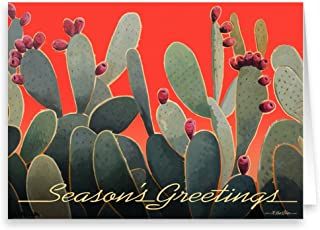 Cactus Season Greetings- 18 Boxed Western Cards and Envelopes (Standard)