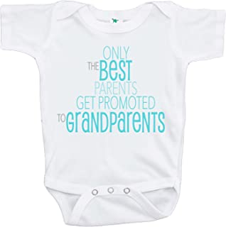 7 ate 9 Apparel Best Parents Get Promoted to Grandparents Pregnancy Announcement Onepiece, Black, 0-3 Months