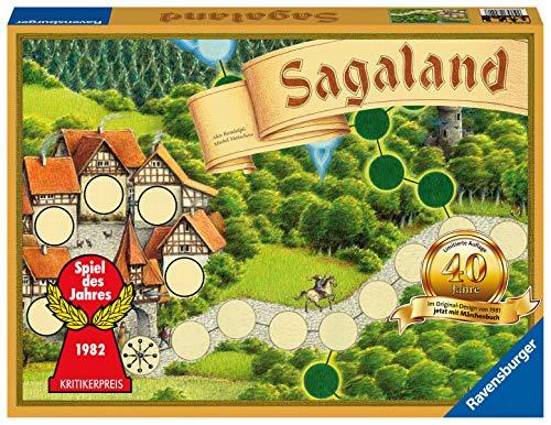 Ravensburger Familienspiel - Sagaland 40 Jahre Jubiläumsedition 27040 - Ein Spiele-Klassiker ab 6 Jahren