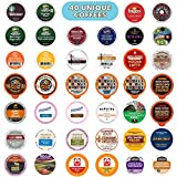 Coffee Pods Variety Pack Sampler, Assorted Single Serve Coffee for Keurig K Cups Coffee Makers, 40 Unique...