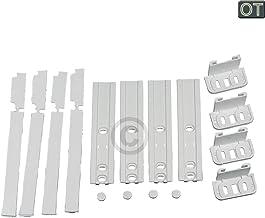 Zanussi T/ür F/ür K/ühlschrank Gefrierschrank Kunststoffhalterung Schieber Klammer Montage Set Packung von 1, 2, 3, 4, 6 oder 8 2 Klammern