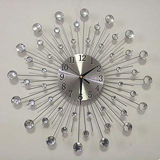 Lisaion 19,7 Pulgadas / 50 diseñóun Gran Reloj de Metal para Decorar la Sala de Estar de los Relojes Duval Satire-l 'aloghio de Parede Modern Horog