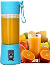 ZOSOE Rechargeable Portable Electric Mini USB Juicer Bottle Blender for Making Juice,Shake, Smoothies,Travel Juicer for Fruits and Vegetables,Fruit Juicer for All Fruits,Juice Maker Machine (Blue)