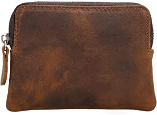 Wallet for Men Fmeida Leather Coin Purse Change Card Holder-Birthday Gift (Yellow Brown)