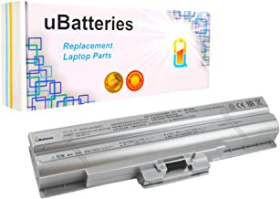 UBatteries Compatible 49Whr Battery Replacement For Sony VGN-CS209J/Q VGN-CS209J/R VGN-CS209J/W VGN-CS215J VGN-CS215J/P VGN-CS215J/Q VGN-CS215J/R - 11.1V, 4400mAh (Silver)