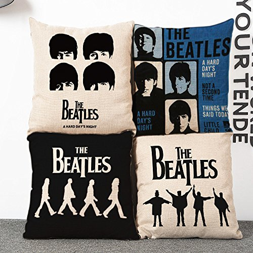 Oceancube Simple Throw Pillow Cover The Beatles Shadow Cushion Cover for Bed Sofa and Car 18''X18'' Idol Decorative Pillowcase