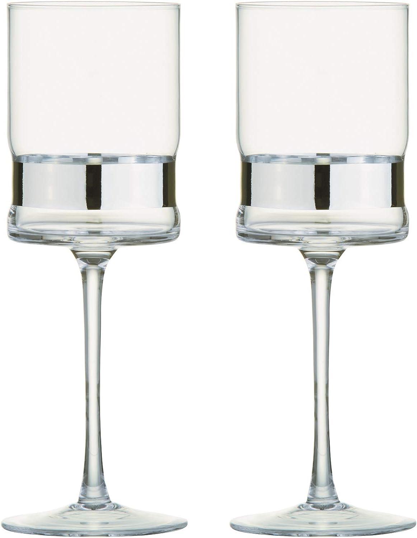 Anton Studio Designs Tucson Mall Set of 2 SoHo Ranking TOP16 Silver Glasses in - Wine Hand