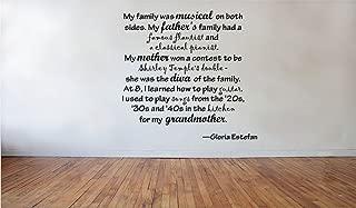 Blinggo My family was-Gloria Estefan removable Vinyl Wall Decal Home Dicor