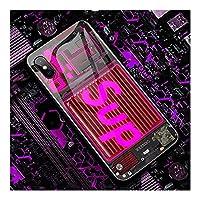 【着信で光る !】スマホケース IPhone 11pro携帯電話ケース 各機種対応 発光ケース アイフォン12第二世代カバー 音声起動 7色の光 LEDフラッシュ Iphone 11 用ケース Iphone 12 Pro 用ケース アイフォン SE 携帯電話ケース 人気お洒落 高級感 耐衝撃ス強化ガラス 超薄型 超軽量,A-iPhone 7 Plus