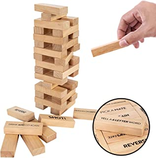 Buzzed Blocks Adult Drinking Game - 54 Blocks with Hilarious Drinking Commands and Games on 40 of Them | Perfect Pregame Party Starter | Entertaining Party Game for Adults | Funny Novelty Present
