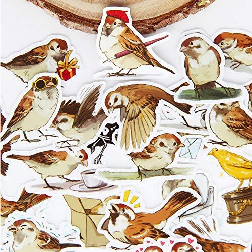 Diy Stickers Vintage Leuke Cartoon Vogel Series Scrapbooking Album Journal Project maken Gelukkig Planner Decoratieve Stickers40 stks