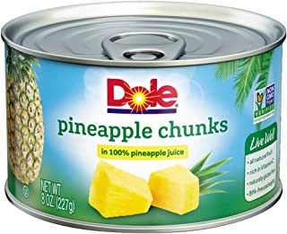 DOLE Pineapple Chunks in 100% Pineapple Juice 8 oz. Can