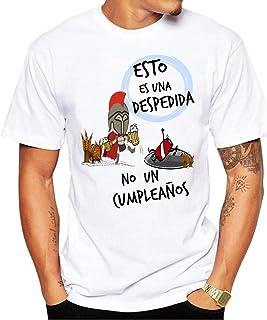 Camiseta Esto es una Despedida no un cumpleaños. Camiseta para Despedida de Solteros. Ideal para Grupos de Amigos en la Fiesta.
