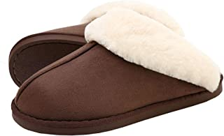 SOSUSHOE Womens Slippers Fur Slippers Ladies House Bedroom Shoes with Anti-Slip Sole for Indoor Outdoor